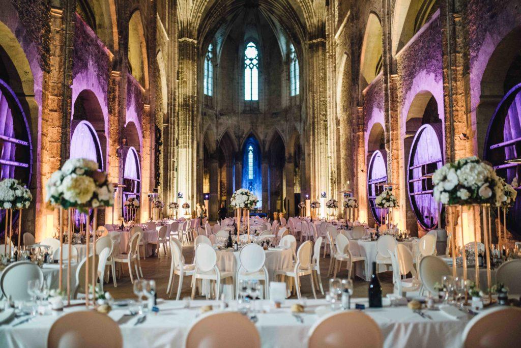 décoration mariage cuivre blanc